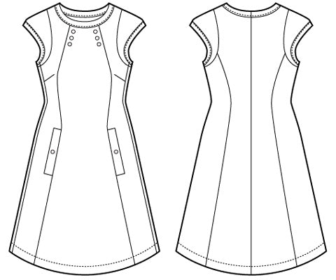 Chloe PDF Victory Patterns Fascinating A Line Dress Pattern