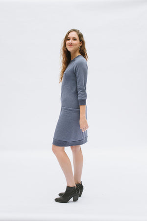 Lola Sweater Dress - Paper - Victory Patterns