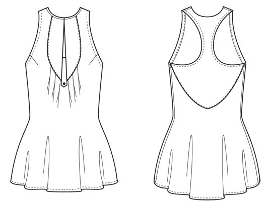 Simone Dress and Tank Top - Paper - Victory Patterns