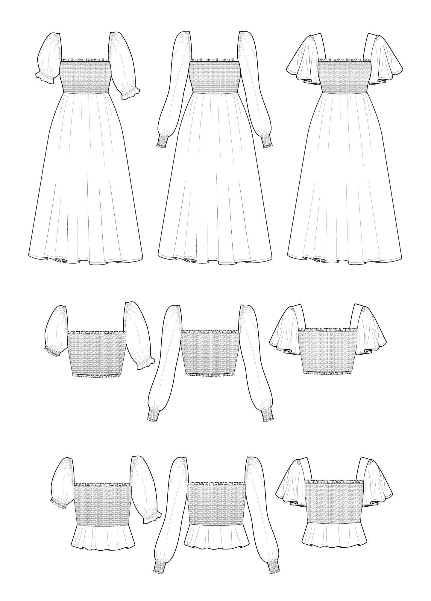 Sofia Dress & Top 0-18 - PDF - Victory Patterns