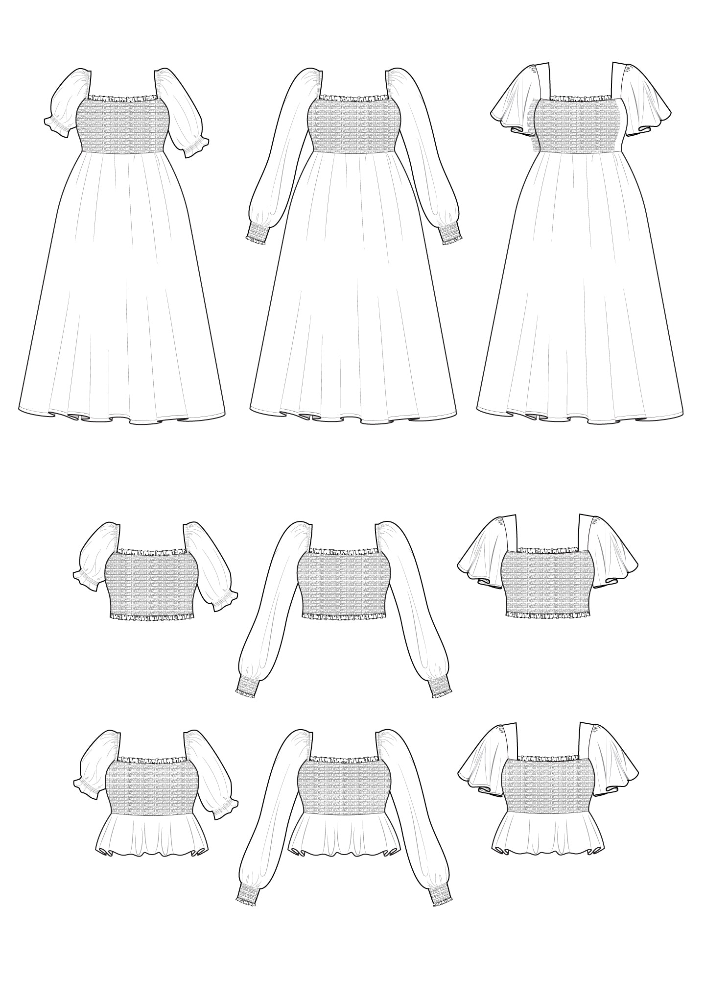 Sofia Dress & Top 14-30 - PDF - Victory Patterns