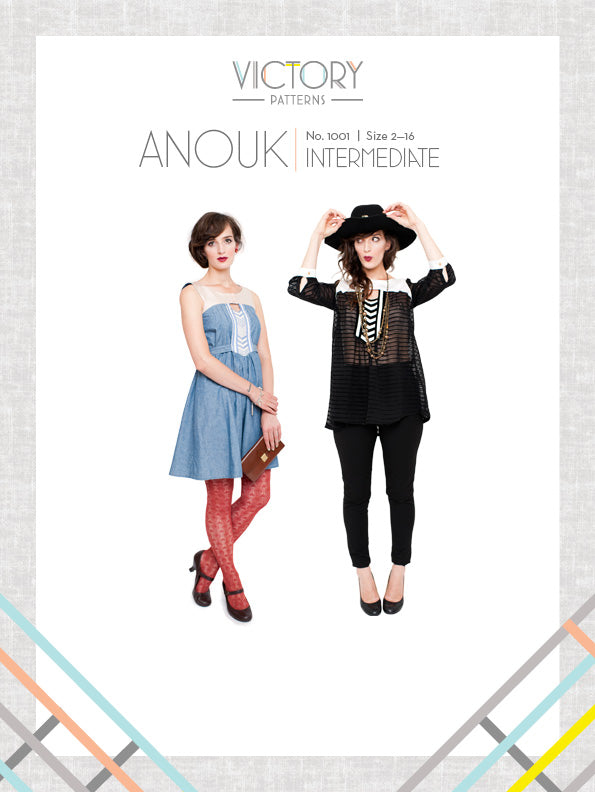 Anouk Dress & Tunic - Paper - Victory Patterns