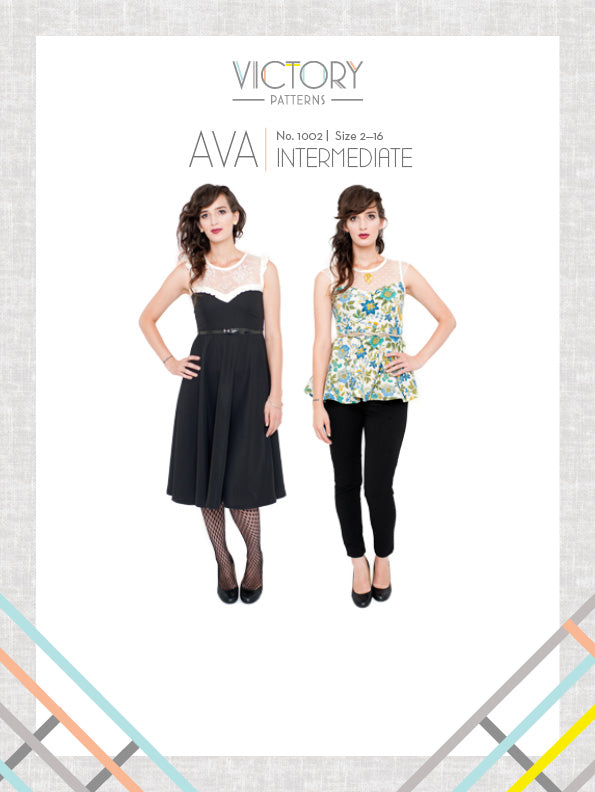 Ava Dress & Blouse - Paper - Victory Patterns