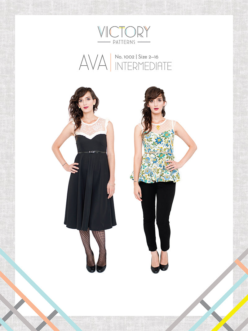 Ava Dress & Blouse PDF - Victory Patterns