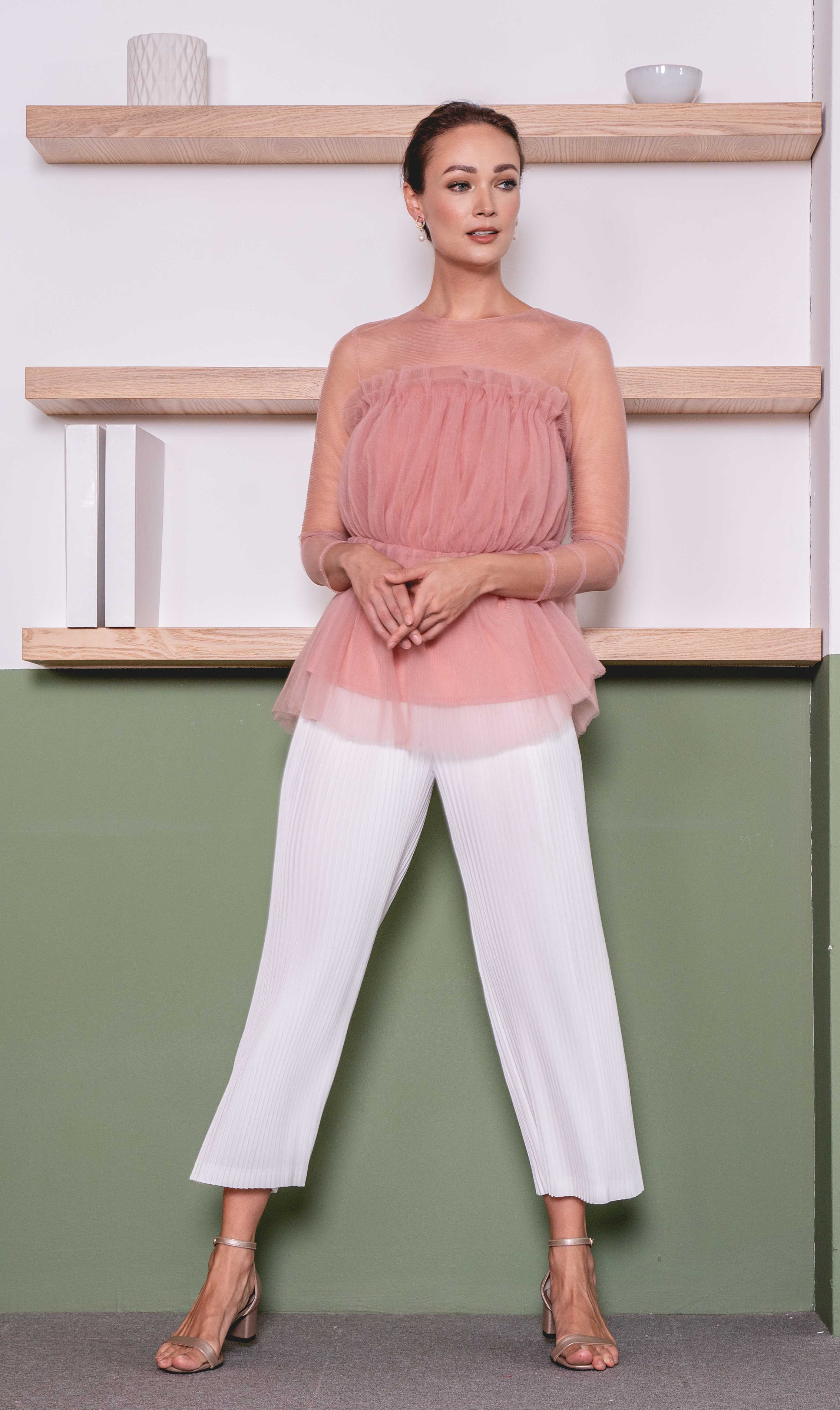Ryle Top in Soft Blush