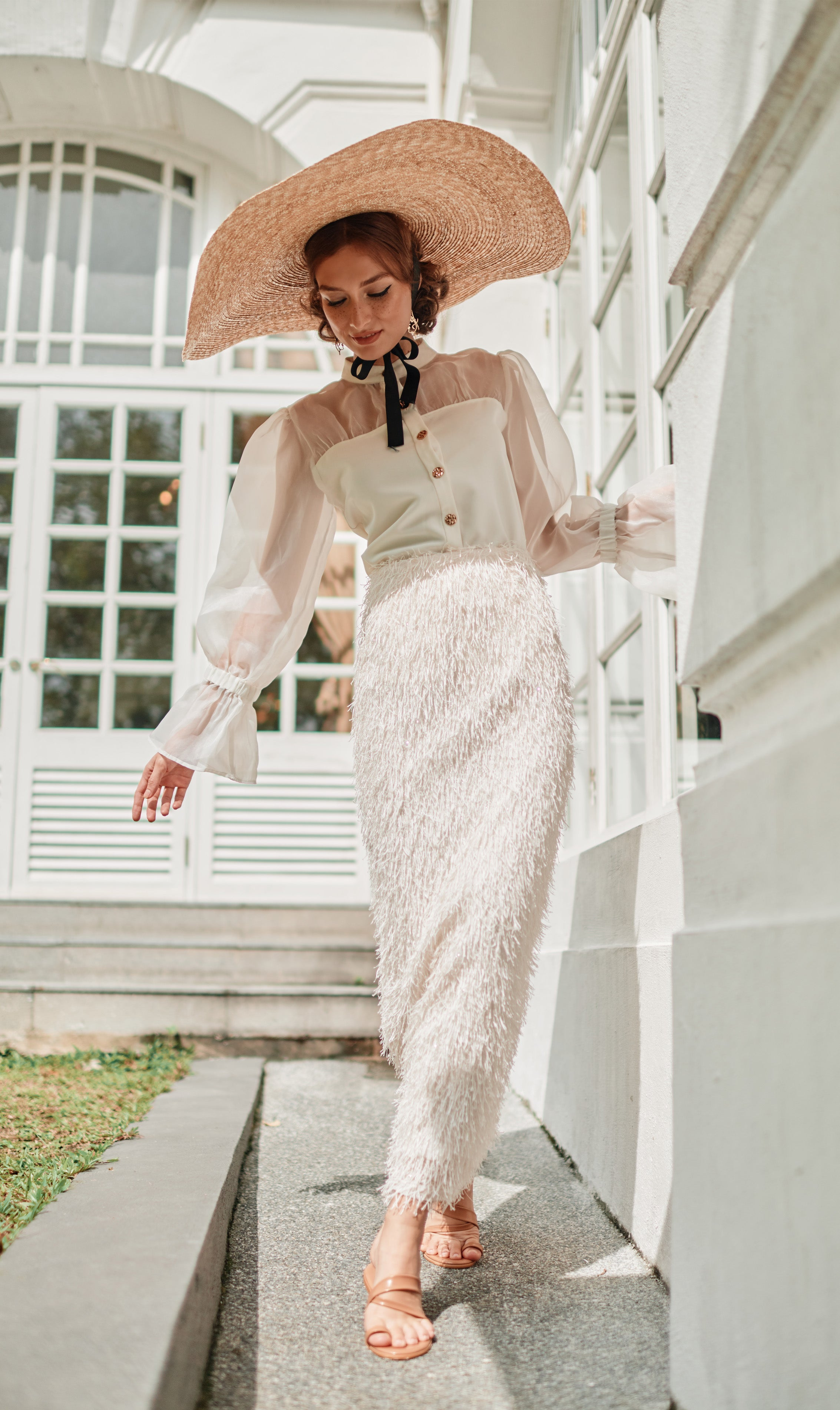 Ray Skirt in Pearl