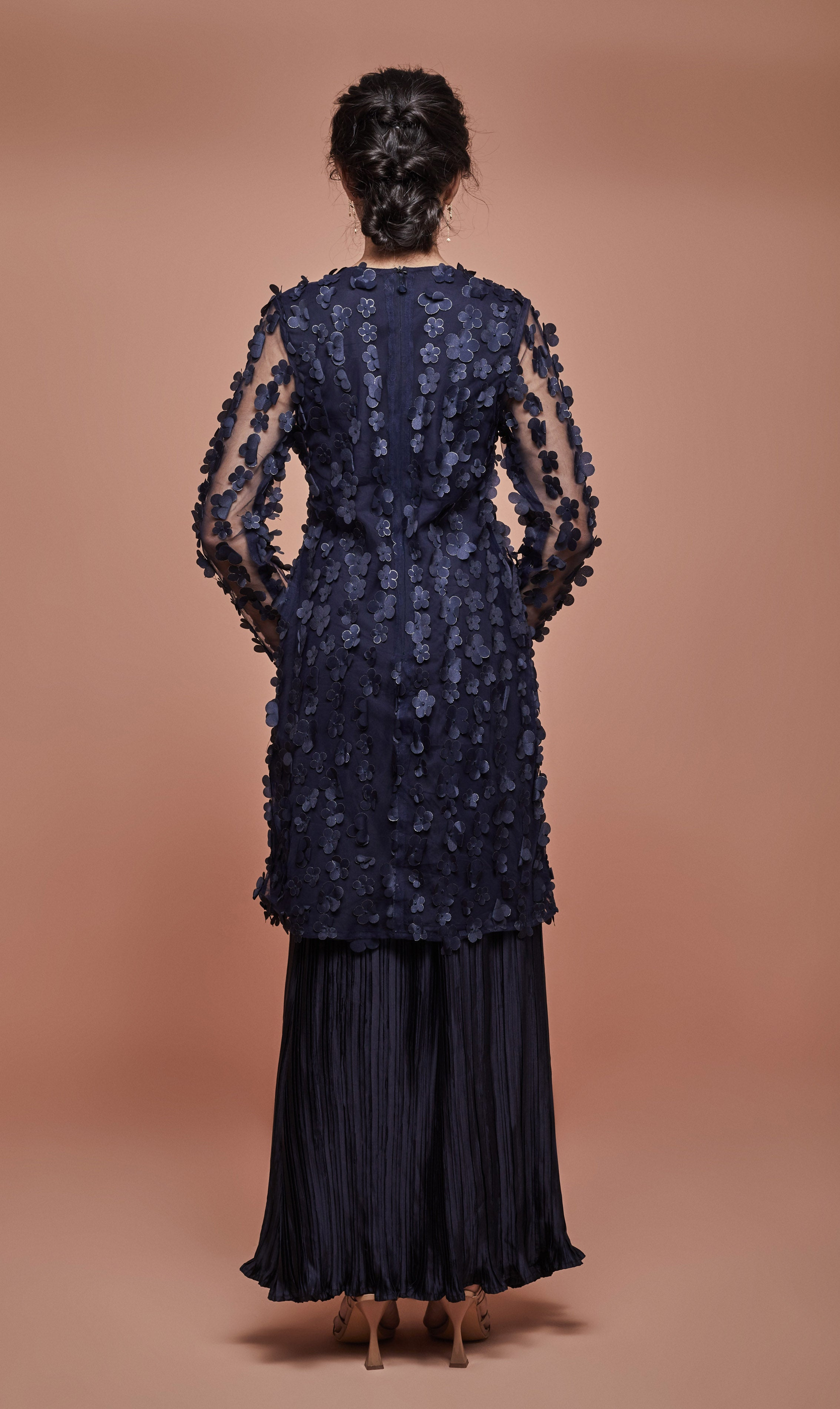 Ines Kurung Set in Navy