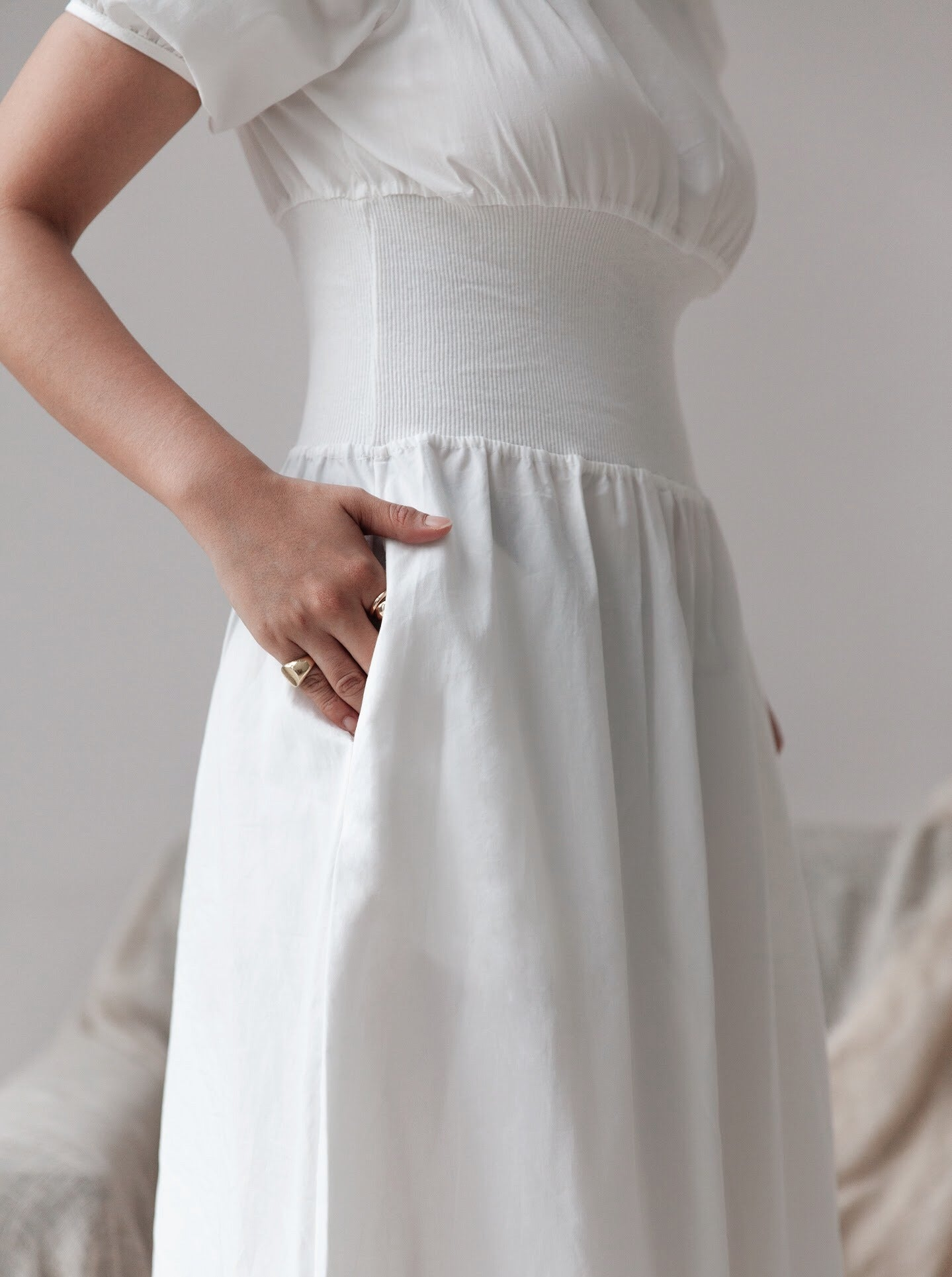 Reya Dress in White