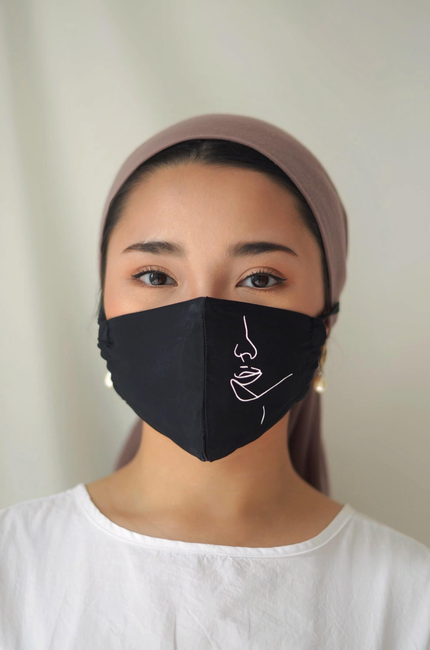 Hanya Face Mask with String Extension (modest friendly)