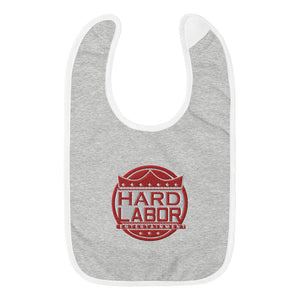 Hard Labor Hook and Loop Baby Bib