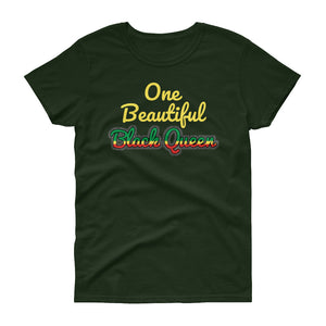 Beautiful Black Queen Women's short sleeve t-shirt