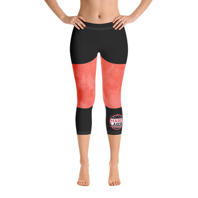 HLE Red Tone Capri Leggings