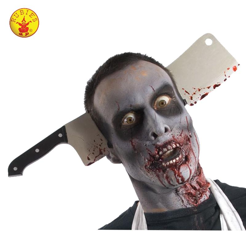 Zombie Cleaver Through Head Accessory