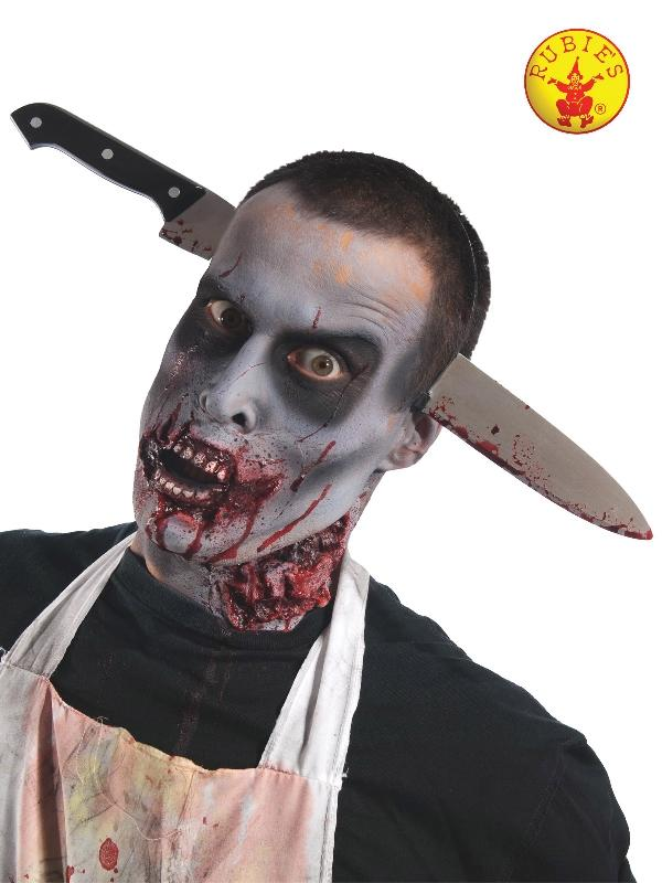 Zombie Kitchen Knife Through Head Accessory