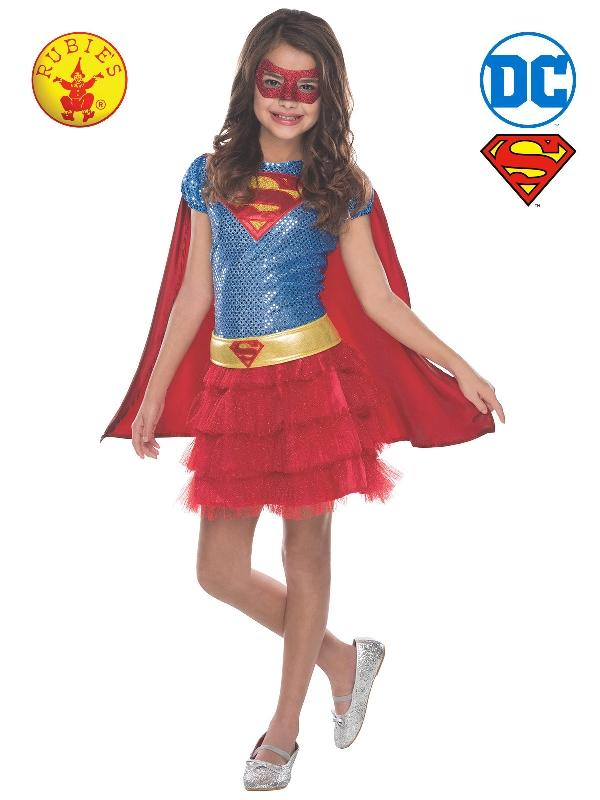Supergirl Tutu Sequin Costume, Child