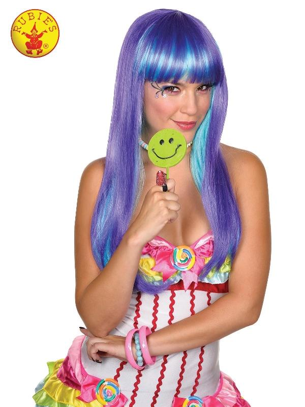 Candy Babe Purple Wig - Adult