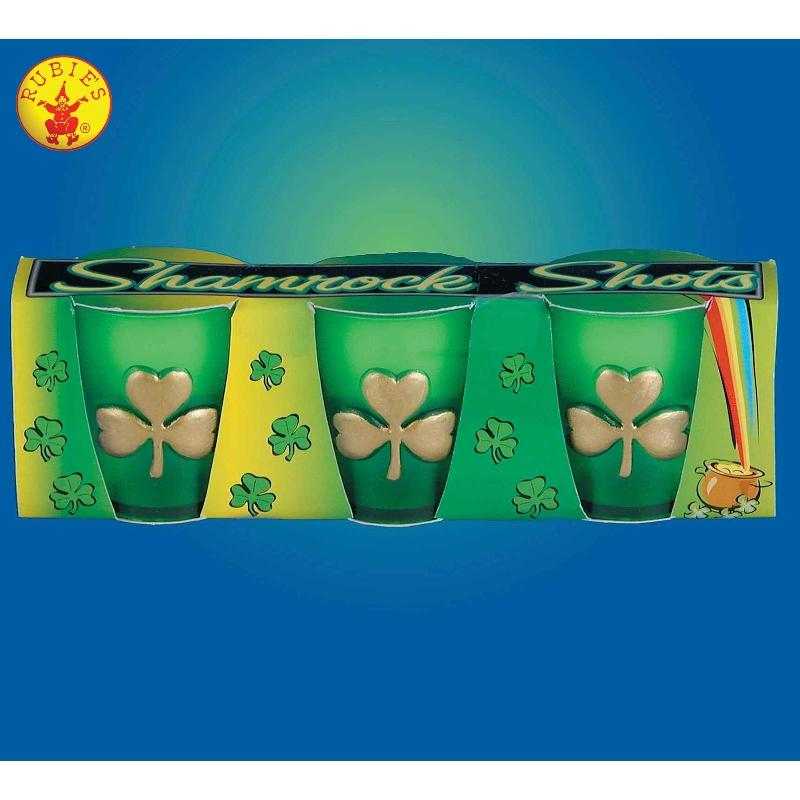 St. Patricks Day Shamrock Shot Glass Set