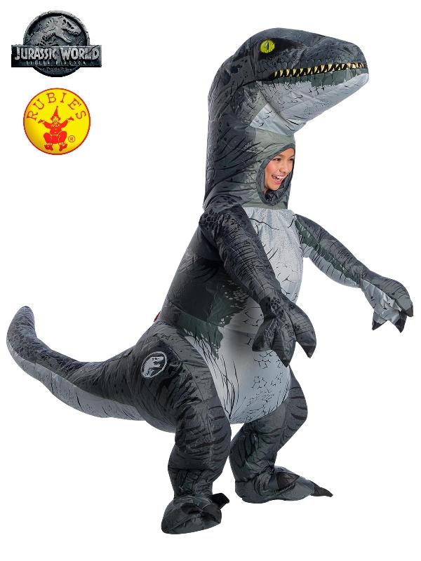 Velociraptor Blue Inflatable Costume - Child