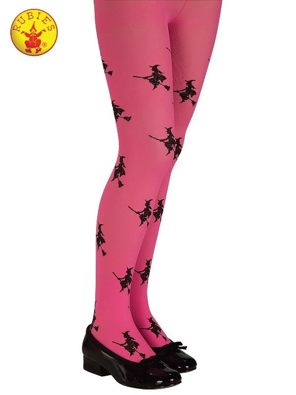Glitter Witch Tights Pink, Child