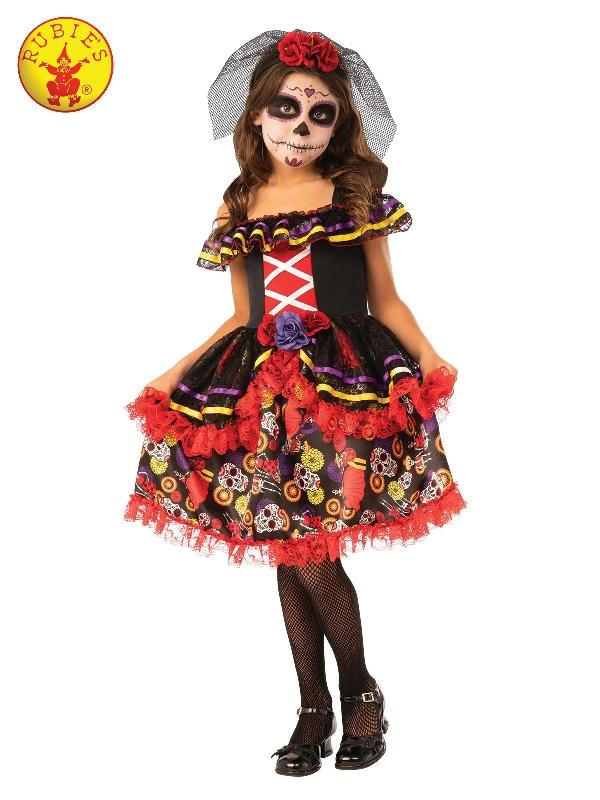 Day Of The Dead Girls Costume, Child