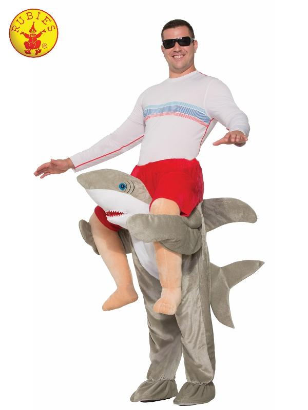 Shark Piggy Back Costume, Adult