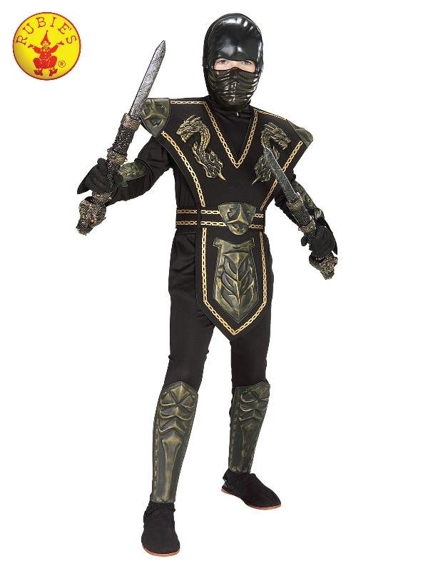 Gold Dragon Ninja Warrior Deluxe Costume, Child