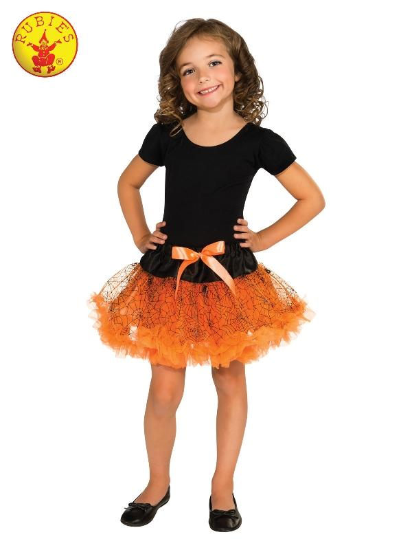Orange Halloween Tutu Skirt, Child
