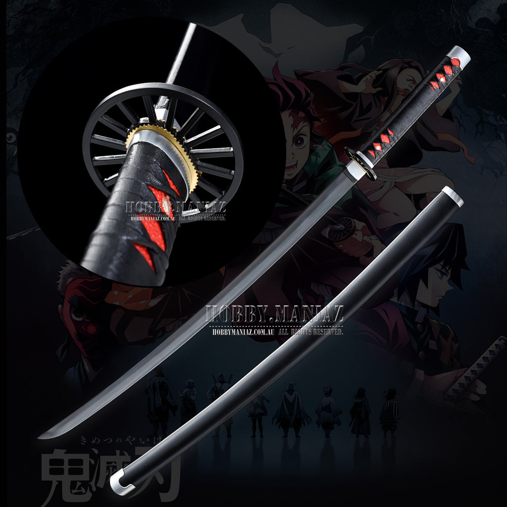 Hand Forged Demon Slayer Kimetsu no Yaiba Tanjirou Kamado Nichirin Tachi Sword