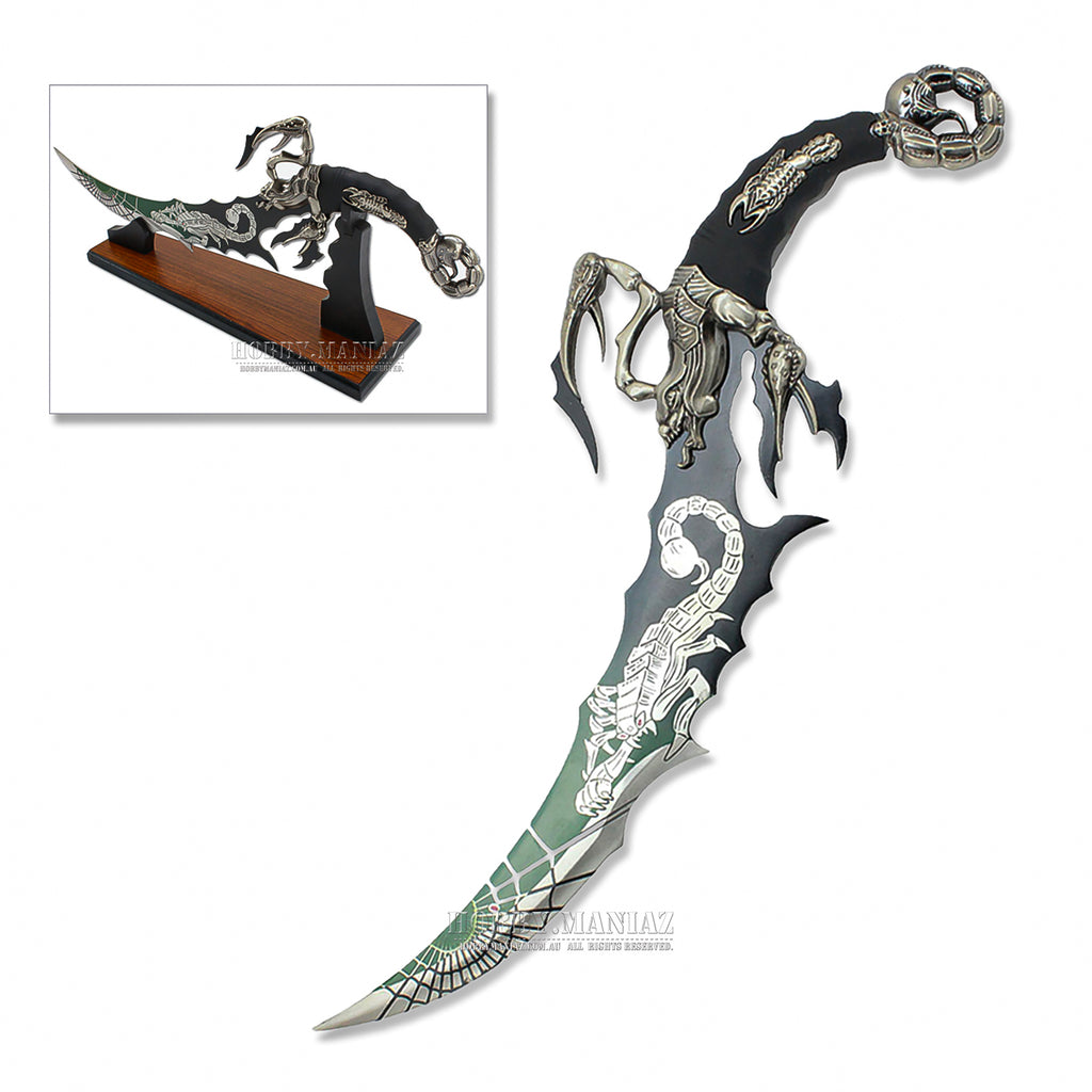 Fantasy Scorpion Dagger Sword with Stand