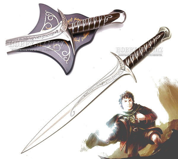 LOR Sting Sword of Frodo with Plaque