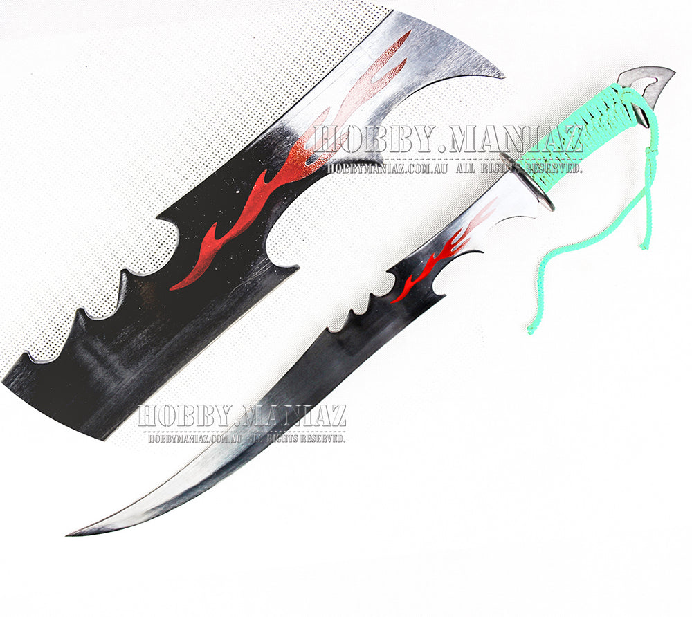 Zombie Killer Full Tang Fantasy Flame Blade Ninja Sword Machete 1
