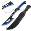 Zombie Killer Full Tang Hero Machete - Blue
