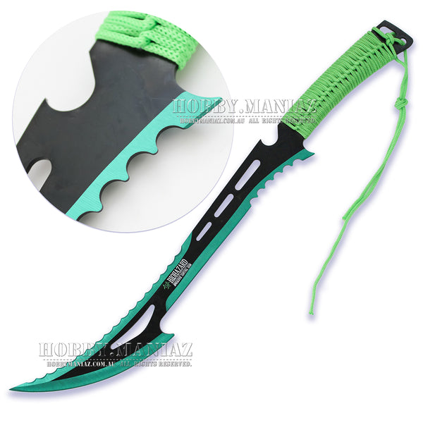 Zombie Killer Full Tang Hero Machete - Green