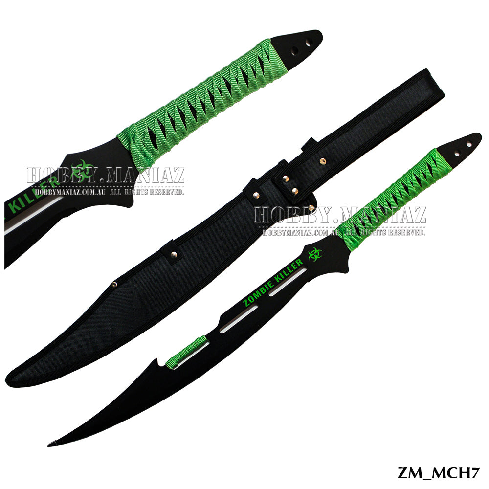 Zombie Killer Full Tang Green Machete
