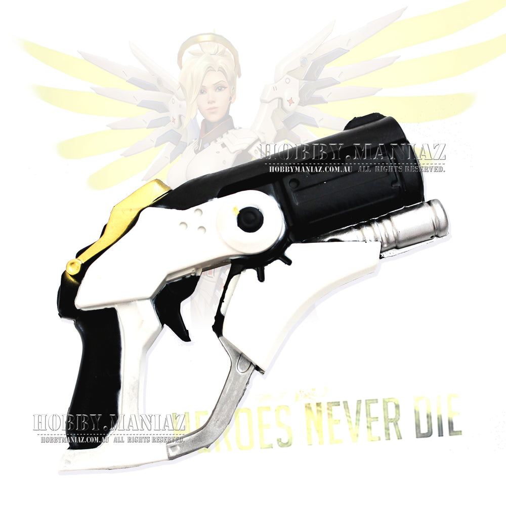 Mercy Gun Pistol PU LARP Foam Cosplay Weapon