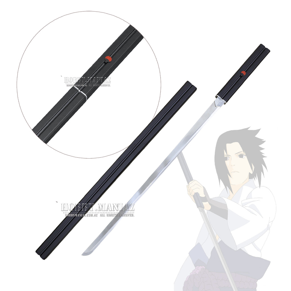 Naruto Sasuke Grass Cutter Sword - Premium Version - Black