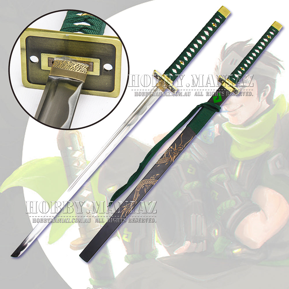Young Genji Shimada Green Sparrow Dragonblade Sword