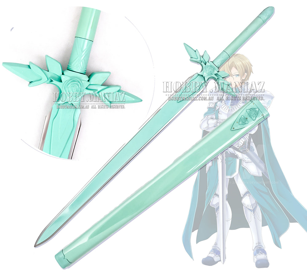 Sword Art Online Underworld Eugeo 's Aqua-Colour Rose Sword