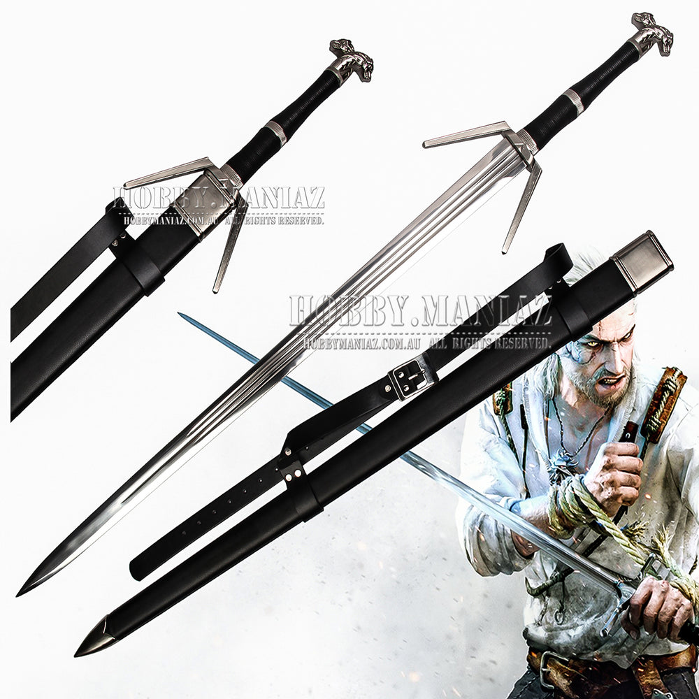 Witcher Geralt Of Rivia Legendary Wolven Silver Sword