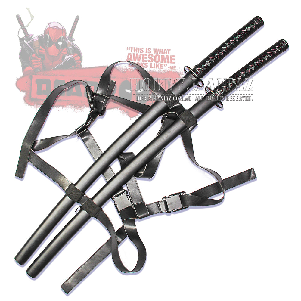 Deadpool Wade Wilson Double Twin Katana Sword Set