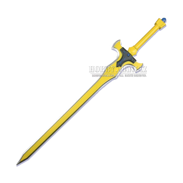 Sword Art Online Movie Kirito Golden Excalibur Foam PU LARP Sword