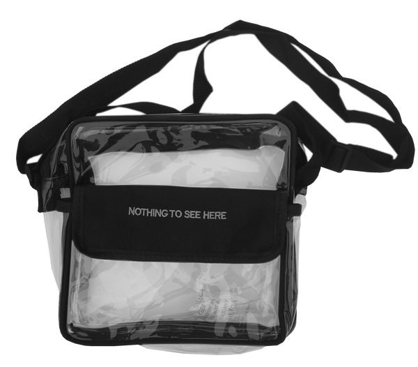 Black PVC Shoulder Bag