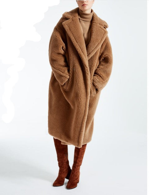 Newest Winter Warm Wool Long Teddy Coat