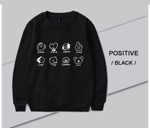 K-pop BTS  Cartoon Sweatshirt
