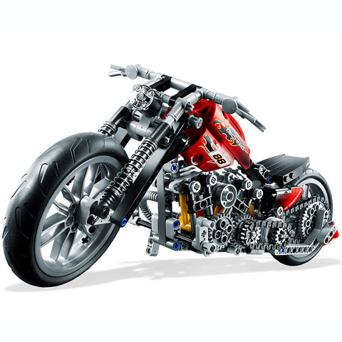 378Pcs  Motorcycle Exploiture Model Harley Vehicle Building Block Set