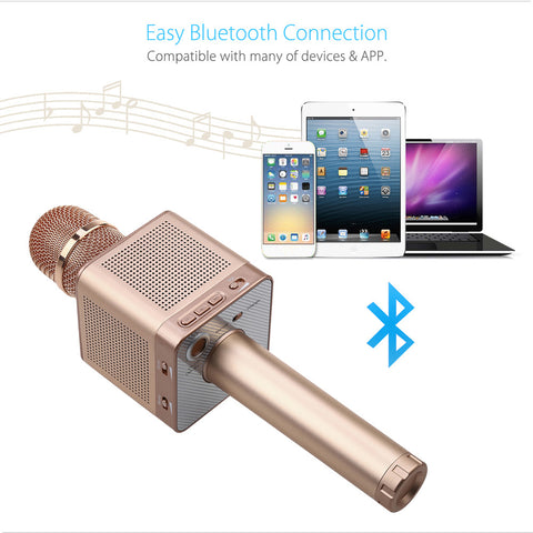 Wireless Bluetooth Magic Karaoke Microphone With 4 Speakers
