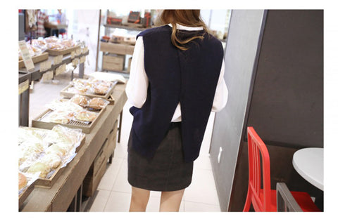 Women Hedging Sweater Soft Cashmere & Wool Vest