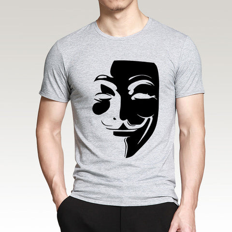 New Style Hacker Face Men Funny T Shirt