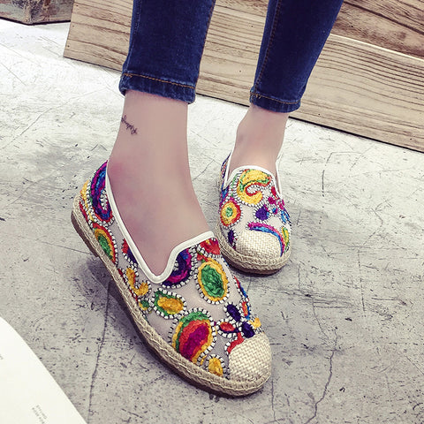 Colorful Moccasins Flats