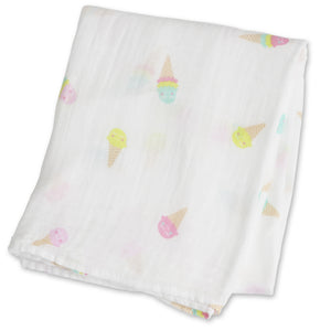 Ice Cream Social Cotton Swaddle